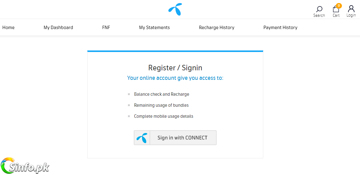 Telenor eCare Login - Check Your All Call SMS and Internet